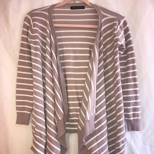 Bajee Collection Mauve Striped Cardigan S DYT T2